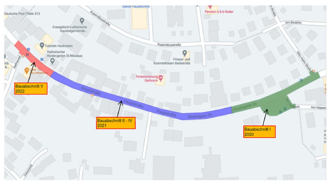 Anlieger-Info für die Gieshügeler Straße u. Hauptstraße in Gerbrunn