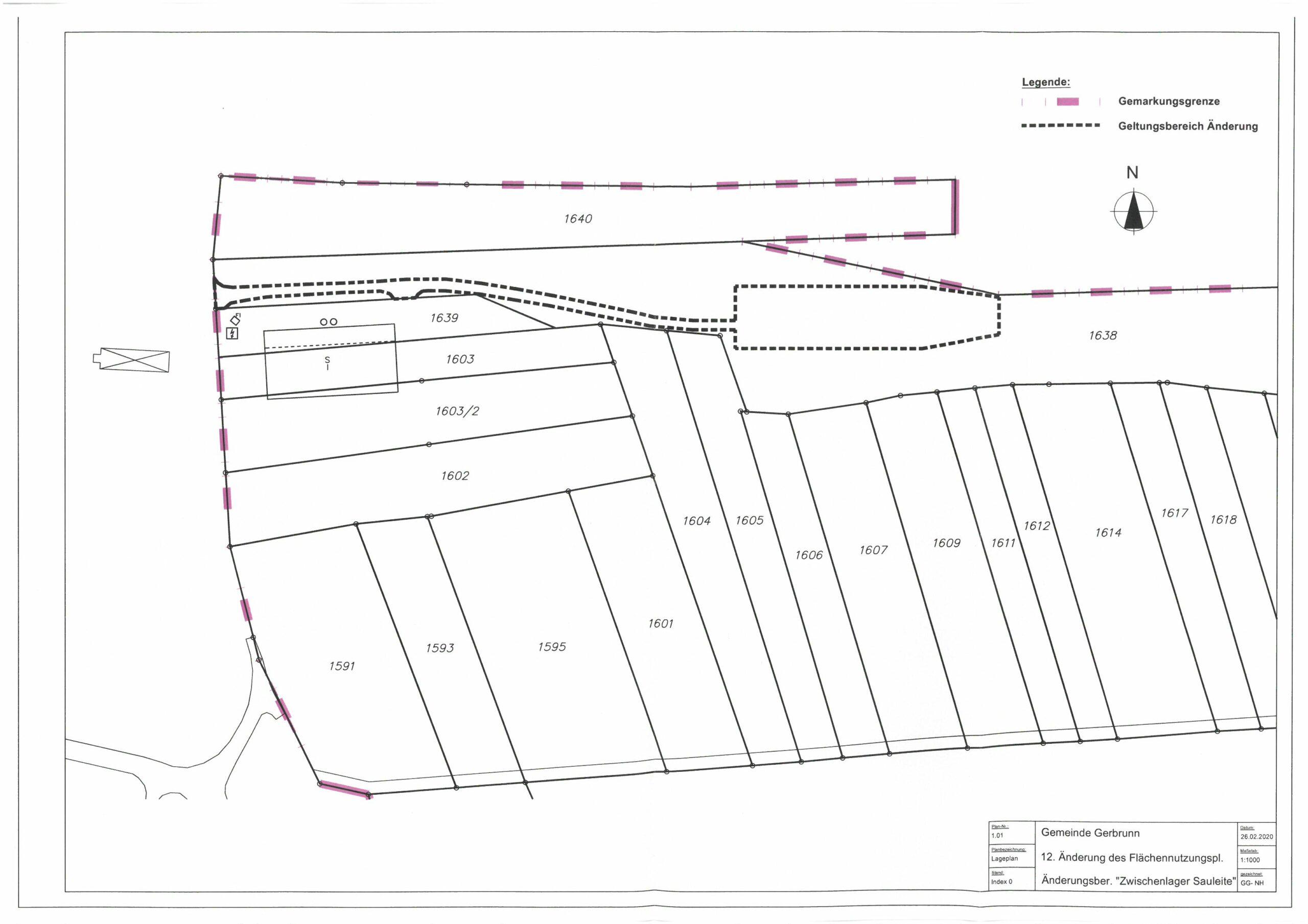 12. Änderung des Flächennutzungsplanes