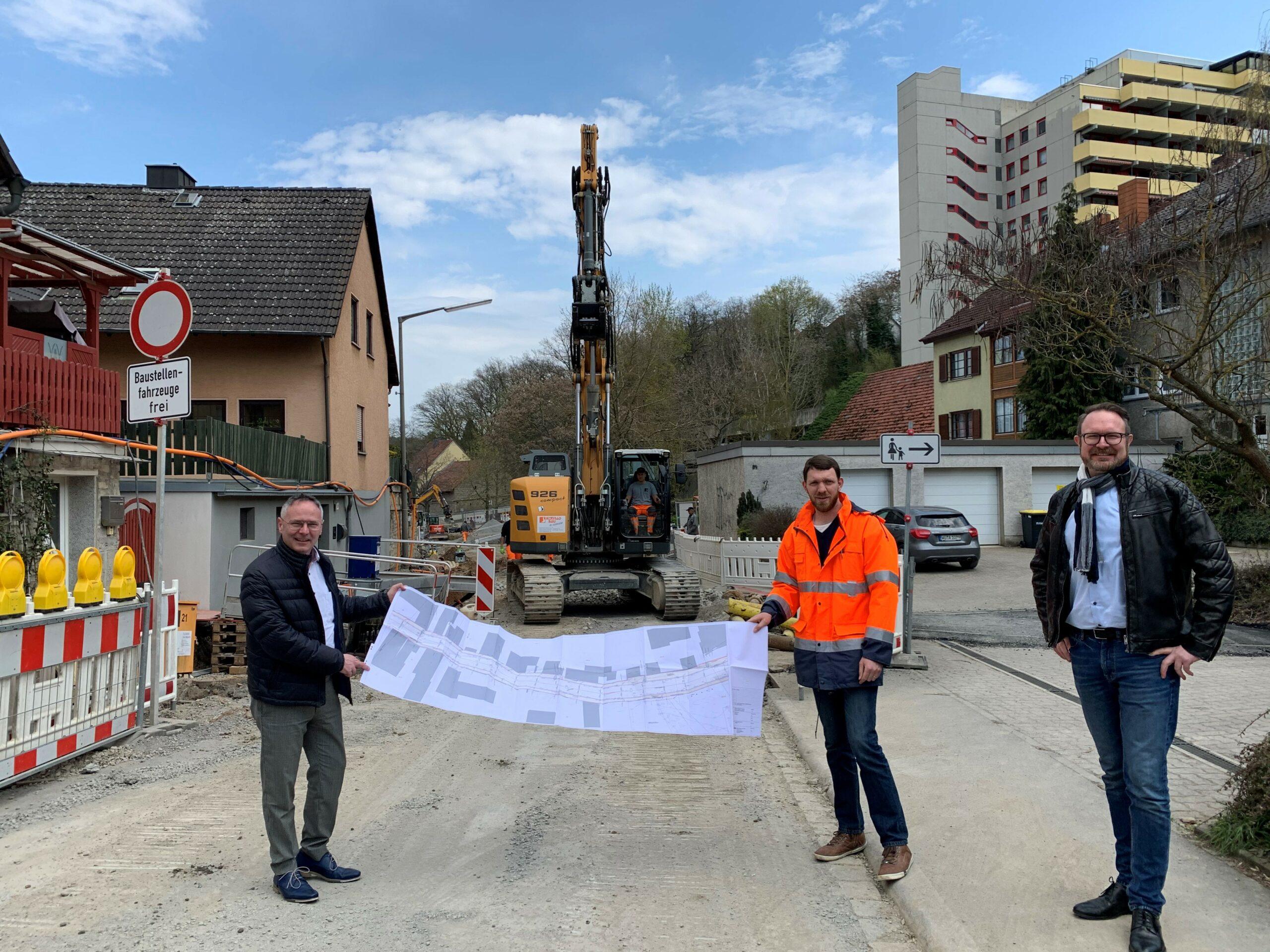 Sanierung Ortsmitte Gerbrunn geht in den 3. Bauabschnitt – Städtebauförderung unterstützt Neugestaltung